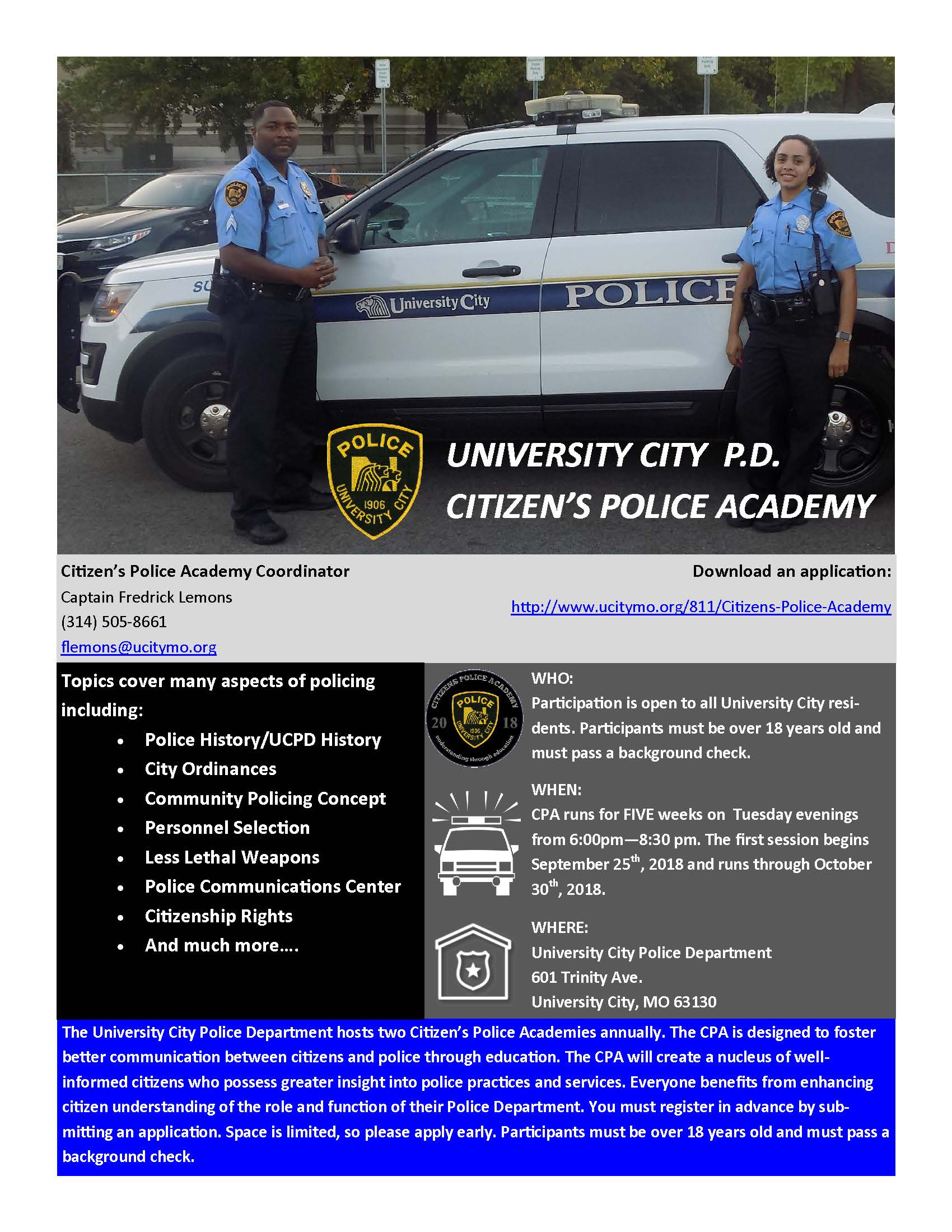 Citizens Academy Flyer 18-02