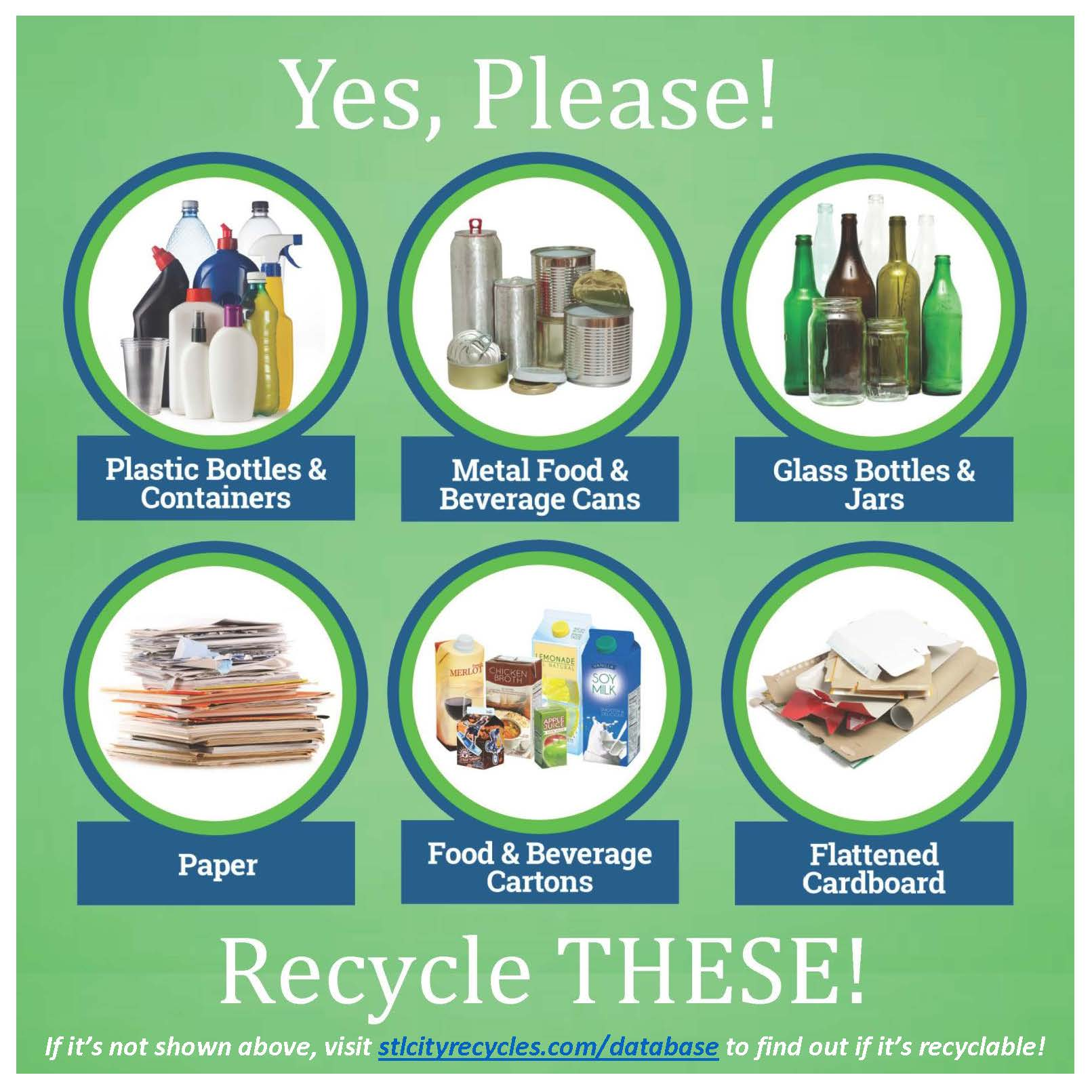Yes Please - Recycle these single