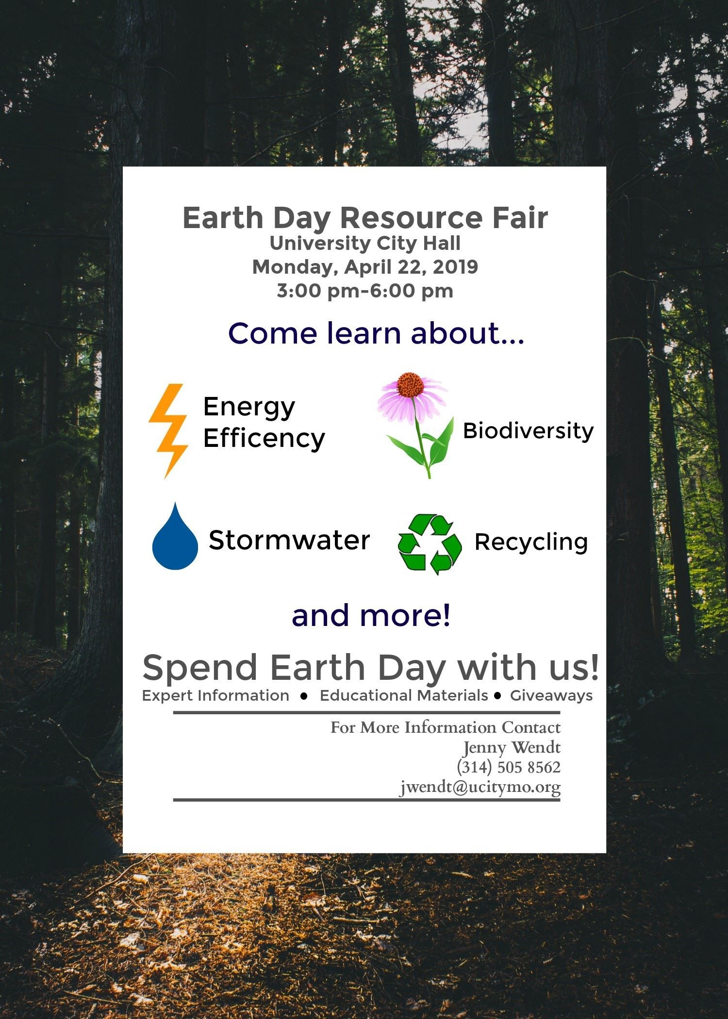 Earth Day Resource Fair flyer