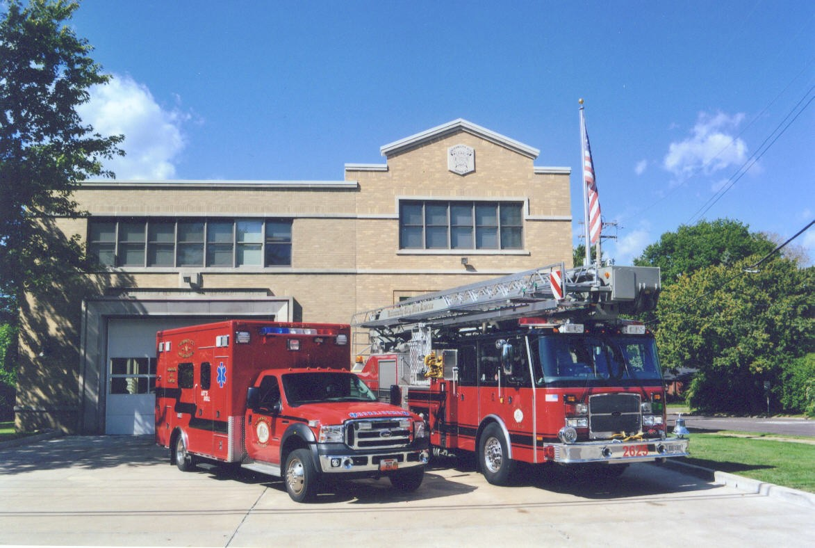 Pumper 2615 and Ambulance 2627